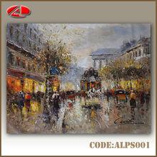 2014 New paris street scene oil painting