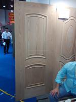 nature veneer engineered pvc melamine hdf moulded door skin panel