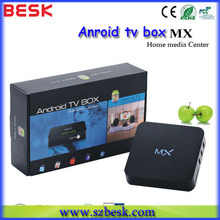 Amlogic mx firmware android box tv dual core with XBMC with sim card slot support 1080P