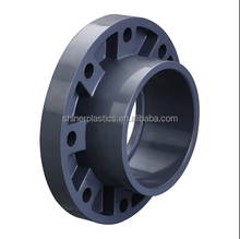 Injection Molding PVC Plastic Cap Flange Pipe Fittings