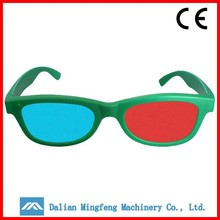 Classic majestic green frame 3d video glasses for ciname