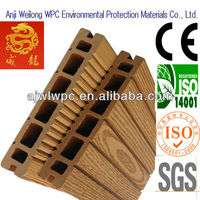redwood color outdoor wpc square hollow decking