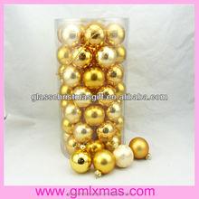 Hot sale indoor glass christmas ball, Xmas glass ornament