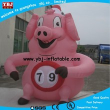 lovely inflatable pink pig/outdoor inflatable cartoon for advertisiement