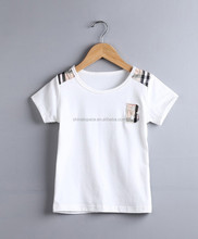 Hot selling boys clothes name brand children t shirts england style 100% cotton t-shirt casual kids clothes