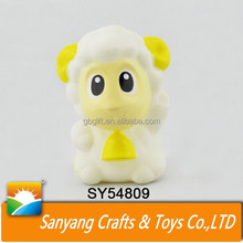 Wholesale promotional toy kids vinyl animal sheep BB sound