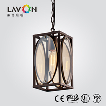 rustic modern black glass chandelier with E27 light source