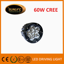 Hot sales Automobile parts 5Inch LED 60W LED driving Light,9-60v Driving On Truck,Jeep, Atv,4WD,Boat,Mining LED driving light