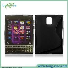 2015 New Arrival S Shape Design for BlackBerry Passport Q30 TPU Case