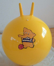 Children PVC jumping ball with handle