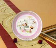 elegent porcelain cupcake plates christmas plate round dinner plate