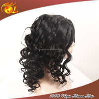 Human hair full lace wig indian hair wig for asian women