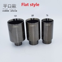 universal stainless steel exhaust tips car tail muffler 51-76inlet51-outle76 flat(welding)