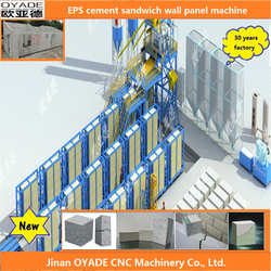 fire proof, waterproof, thermal insulation Cement EPS Sandwich Panel Making Machine