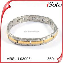 Hot new products 2015 mens bracelet models bio health magnetic bracelet