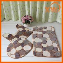 Home designs coral fleece accessories non slip 3 piece bath mat sets