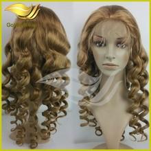 Wholesale virgin color half lace glueless virgin Brazilian wig