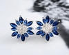 925 sterling silver earring fine fashion flower shape cz earring