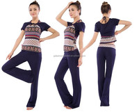 3 pieces a set printed pattern latest clothes yoga costume