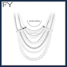 Multi Layer latest design baroque freshwater pearl necklace
