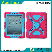 Defender case for ipad mini, tough armor case for ipad 2/3/4, hybrid comboo stand case for ipad air