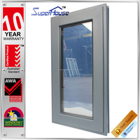 Factory price AS2047 double sash 2015 new design australia standard double glass window