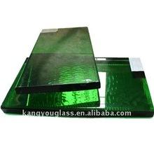 bloques de vidrio de cristal verde