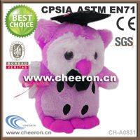 Educational gifts owl toys plush wholesale with graduation cap