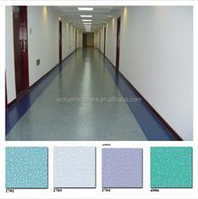 PVC plastic commercial flooring/ pvc plastic flooring for hospital/hotel