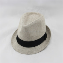 Cheap men natural grass straw fedora hat