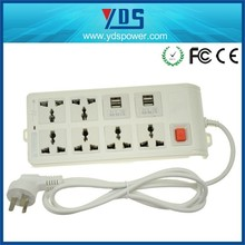 power extension socket,Electric Type Portable 4 port usb desktop socket,ac socket with usb smart charger