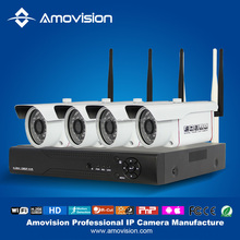 Amovision security camera kits WNK402 H.264 4ch HD 720P IR Night Vision Wireless IP Camera with NVR KIts