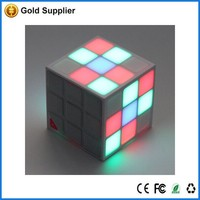 music mini bluetooth vibration led light cube speaker with CE RoHs, alibaba gold member