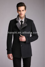 Handmade men cultivating wild winter new wool coat long section wool coat