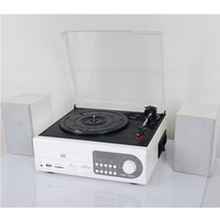 AM/FM PLL tuner radio cassette player USB SD encoding playing aux in CD player multi-functional gramophone turntable player