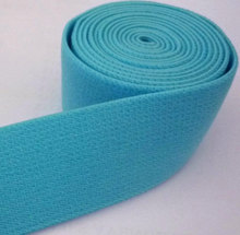 Turquoise Blue Felt / Plush Surface Elastic Band Waistband Crafts Supply 1 inch 2.54 cm width/ 1.5mm thickness EB9