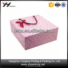 2015 top sale pink, rural style, romantic roses design portable paper bag