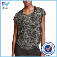 Dongguan Yihao Casual fitneess Short Sleeve Running Shirt Solid O-neck Breathable Gym Sportwear Singlet T Shirts