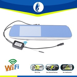 5 inch Android 4.1 DVR 2.4G wireless WiFi GPS car rear view mirror monitor