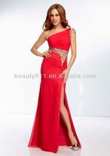 Un- la línea de un hombro de piso- longitud de tafetán de noche/vestido de fiesta ed0170