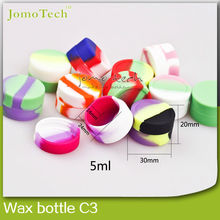 Non stick high quality custom silicone rubber container for concentrate,wax