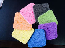 100% Viscose super absorbent square cellulose sponge wipe with anti bacterial