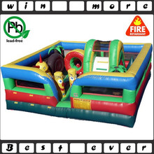 Indoor toddler inflatable playground with funny cartoons theme