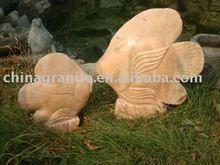 stone carving fish garden fountain