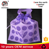 Customized eco-friendly non woven shoe string tote handled bags for baby shoes