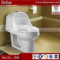 Economic one piece siphon toilet ,Arabia toilet with SASO certificate ,types of sanitary traps