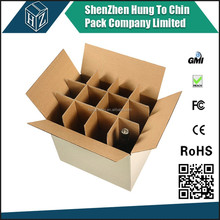 beer bottle carton box package with divider