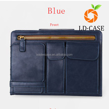 branded leather laptop case for ipad air2 case for ipad mini4 for kindle fire multifunction PU briefcase 12.9 inch laptop bag