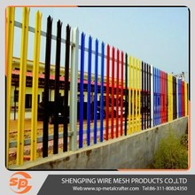 Factory sale powder coated decorative metal palisade fence panels