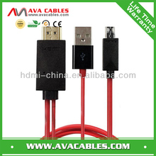 mhl cable for iphone usb to HDMI Adapter for Samsung Galaxy S3 MHL Cable
